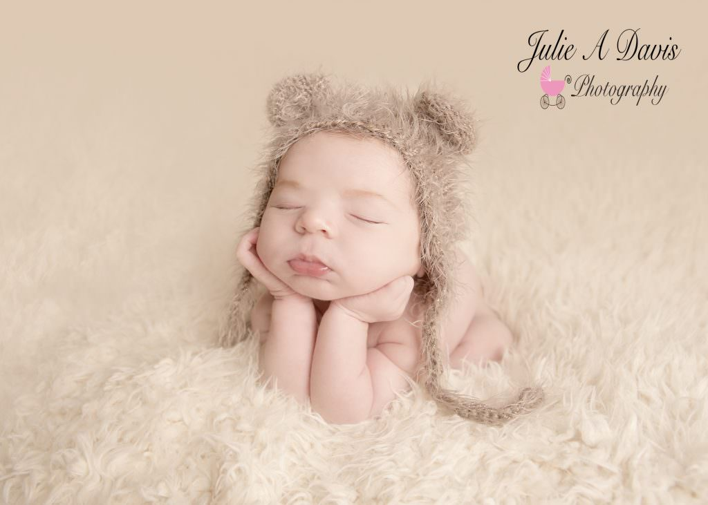 Newborn baby by Hampshire photographer Julie A Davis